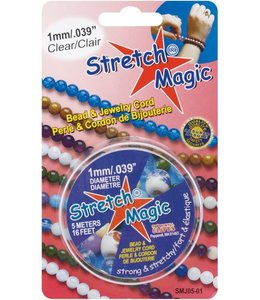 Stretch Magic 1,0 mm. Transparant Elastiek