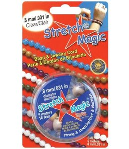 Stretch Magic 0,8  mm. Transparant Elastiek