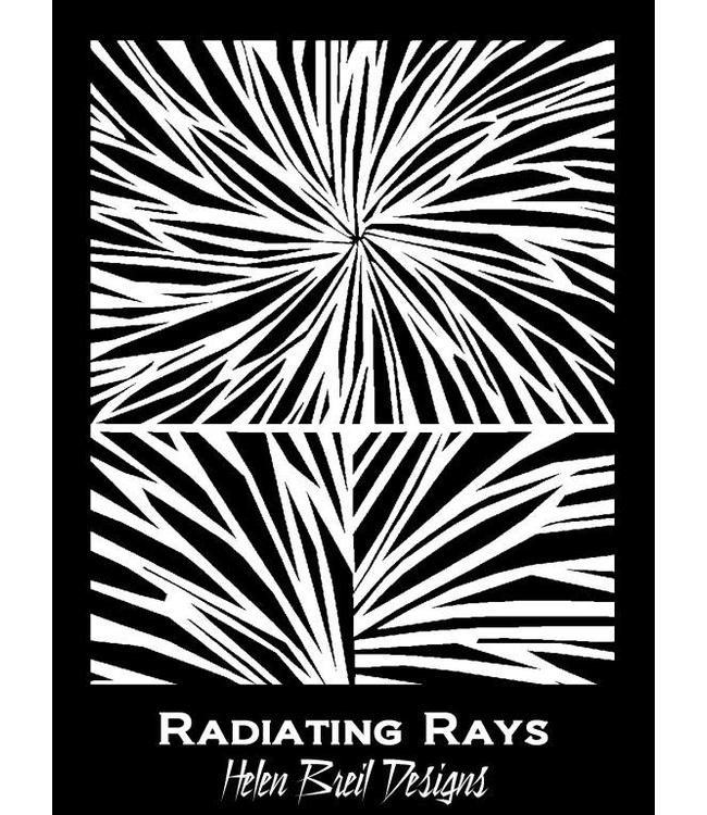 "Helen Breil Texture Stamp ""Radiating Rays"""