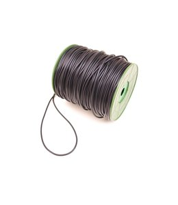 Rubber Cord Black 2.5 mm. per meter