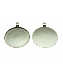 Pendant Round & Smooth Silver Colored