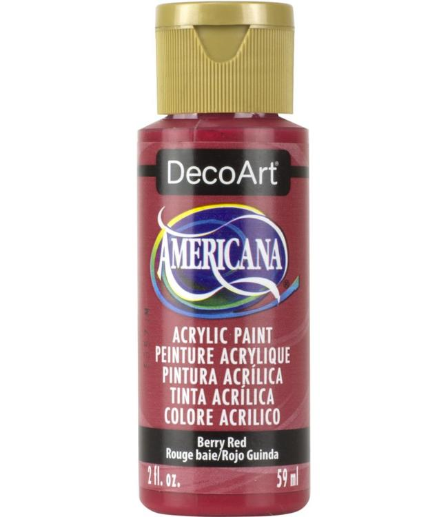 Americana Acrylic Paint Berry Red