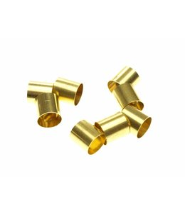 Round Brass tube diameter 8 mm. length 8 mm.