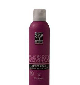 Treets Rose & Pink Pepper Shower Foam.