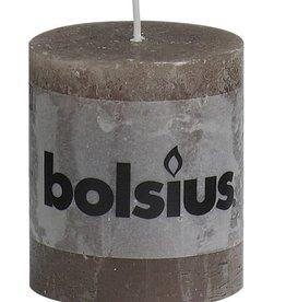 Bolsius kaarsen Rustic pillar candle Taupe
