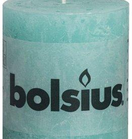 Bolsius kaarsen Stompkaars rustiek 80/68 sweet ocean