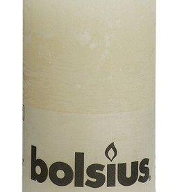 Bolsius kaarsen Rustic pillar candle 130/68 ivor