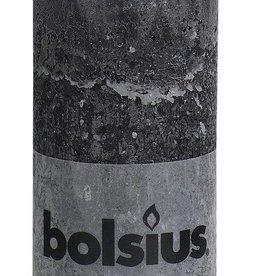 Bolsius kaarsen Stompkaars rustiek 130/68 antraciet