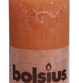 Bolsius kaarsen Rustic pillar candle 130/68 Orange