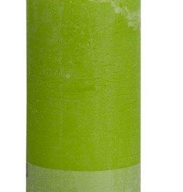 Bolsius kaarsen Rustic pillar candle 190/68 Lime