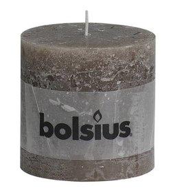 Bolsius kaarsen Rustic pillar candle 100/100 Taupe
