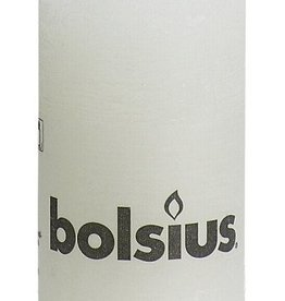 Bolsius kaarsen Rustic pillar candle 100/50 White