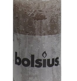 Bolsius kaarsen Rustic pillar candle 100/50 Taupe