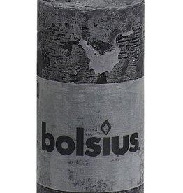 Bolsius kaarsen Rustic pillar candle 100/50Antraciet
