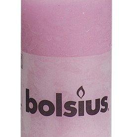 Bolsius kaarsen Stompkaars rustiek 100/50 roze