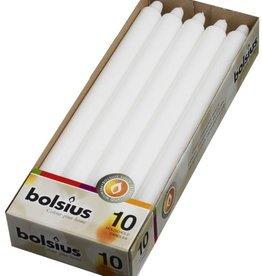 Bolsius kaarsen Table candle 290/22 White