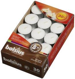 Bolsius kaarsen Tea light 8 hours white