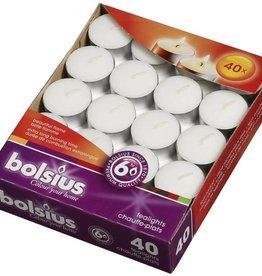 Bolsius kaarsen Tea light 6 hours white