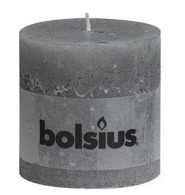 Bolsius kaarsen Rustic pillar candle 100/100 light grey