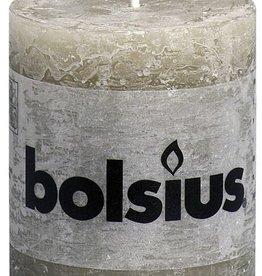 Bolsius kaarsen Rustic pillar candle pebble grey