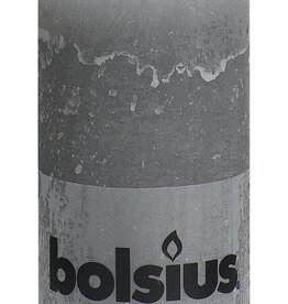 Bolsius kaarsen Rustic pillar candle 130/68 light grey