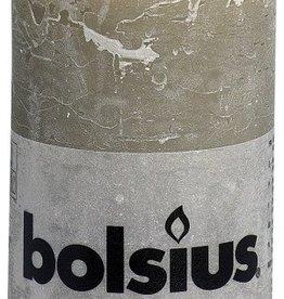 Bolsius kaarsen Rustic pillar candle 130/68 pebble grey
