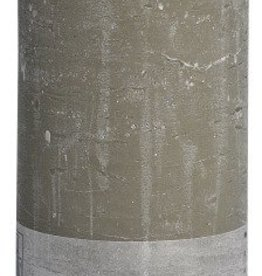Bolsius kaarsen Rustic pillar candle 190/68 pebble grey