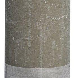 Bolsius kaarsen Stompkaars rustiek 190/68 kiezelgrijs