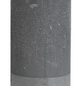Bolsius kaarsen Rustic pillar candle 190/68 light grey