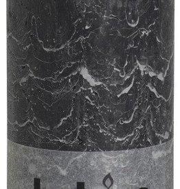 Bolsius kaarsen Rustic pillar candle 200/100 Antraciet