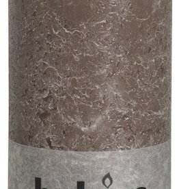 Bolsius kaarsen Rustic pillar candle 200/100 taupe
