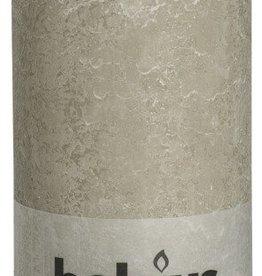 Bolsius kaarsen Rustic pillar candle 200/100 pebble grey