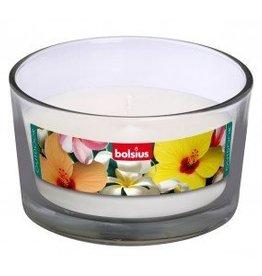Bolsius kaarsen Outdoor glass 62/106 white