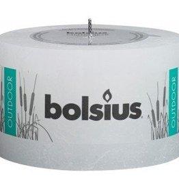 Bolsius kaarsen Outdoor rustic pillar candle 90/140 White