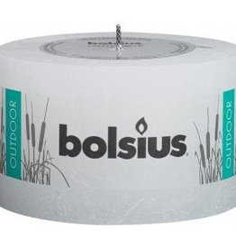 Bolsius kaarsen Rustic outdoor candle 90/140 white