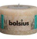 Bolsius kaarsen Rustic outdoor candle 90/140 pastel beige