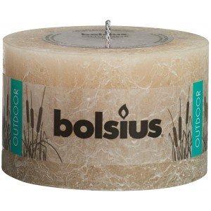 Bolsius kaarsen Outdoor rustic pillar candle 90/140 pastel beige