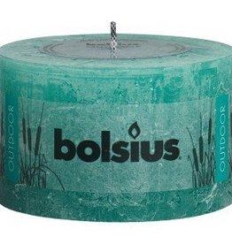 Bolsius kaarsen Rustic outdoor candle 90/140 sea