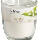 Bolsius kaarsen Lily of valley fragrance glass with lid 80/70