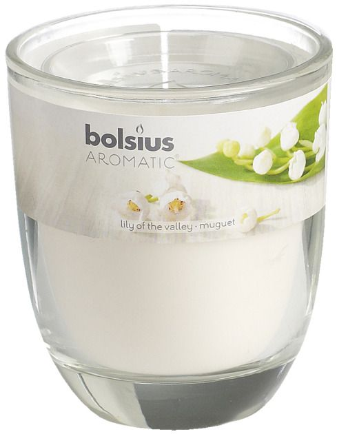 Bolsius kaarsen Smell filled glass with lid 80/70 Lily of the Valley