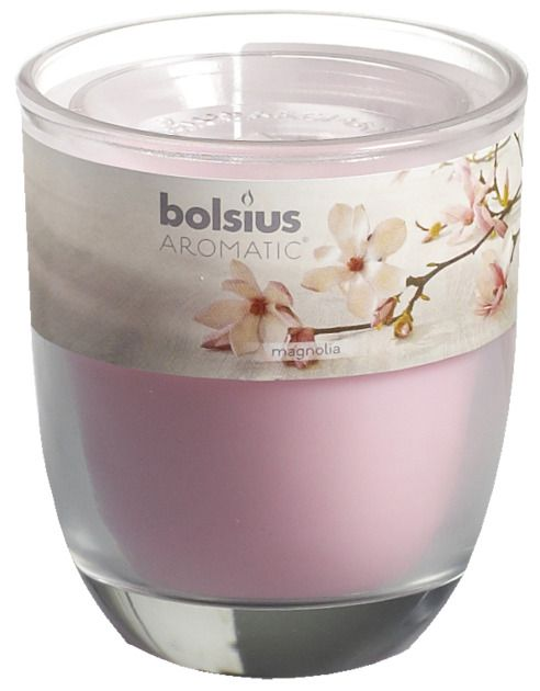 Bolsius kaarsen Magnolia fragrance glass with lid 80/70