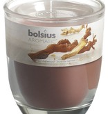 Bolsius kaarsen Smell filled glass with lid 80/70 Sandalwood