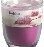 Bolsius kaarsen Lilac blossom fragrance glass with lid 80/70