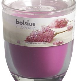 Bolsius kaarsen Lilac blossom glass with lid 80/70