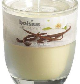 Bolsius kaarsen Vanille geurglas met deksel 80/70
