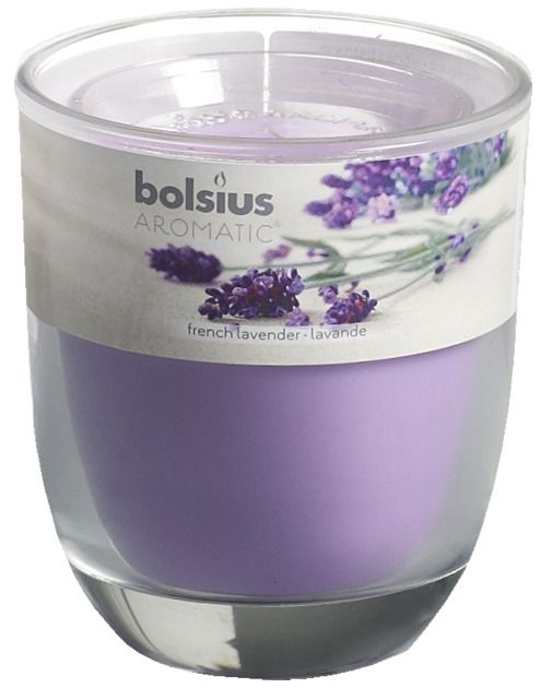 Bolsius kaarsen Smell filled glass with lid 80/70 French Lavender