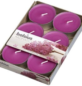 Bolsius kaarsen Lilac blossom maxi geur theelicht 8 uur