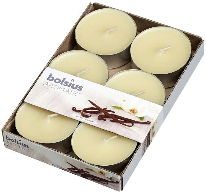 Bolsius kaarsen Scent maxi tea light 8 hours Vanilla