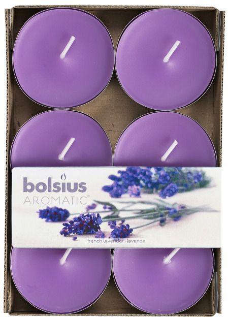 Bolsius kaarsen French lavender maxi fragrance tealight 8 hours