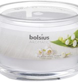 Bolsius kaarsen Lily of valley fragrance glass with lid 63/90